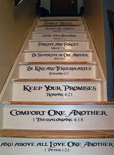 Beautiful Home Decorating Blogs family rules stair decal trading phrases