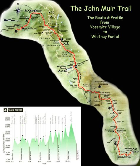 john muir trail sections how do i plan for a trip to yosemite