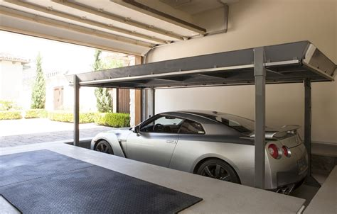 3 Car Garage House by Private Car Lifts Sees Inc