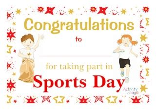 Sports Day Certificate Template by Sports Day Certificates