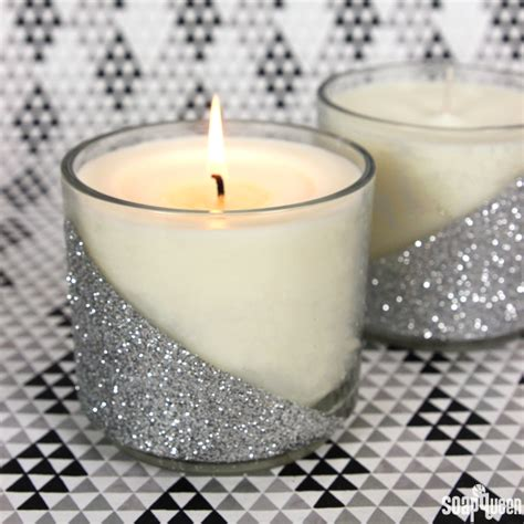 how to make a glitter candle diy home decor 187 the real silver glitter candle diy soap queen