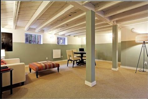 painted basement ceiling great idea office