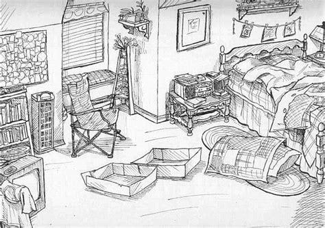 how to draw bedroom how to draw a dream bedroom