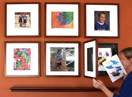 using dynamicframes for children s artwork unclutterer