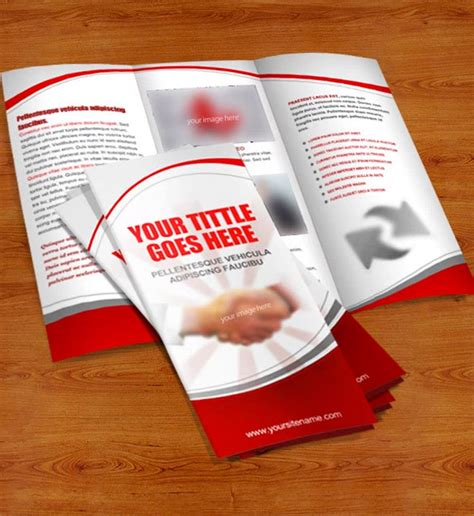 foldable brochure template 15 free brochure templates for designers to naldz