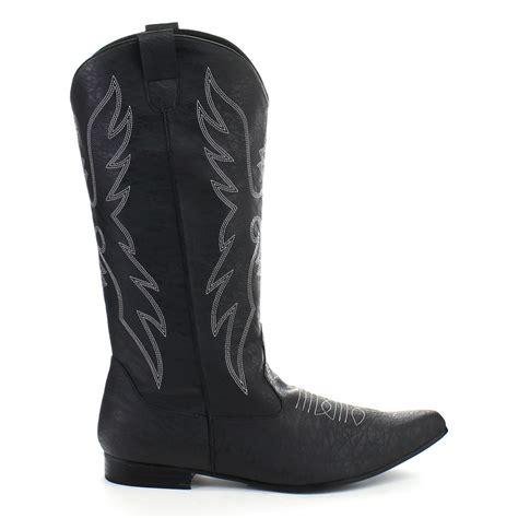 funtasma s flat heel pull on cowboy boots embroidery