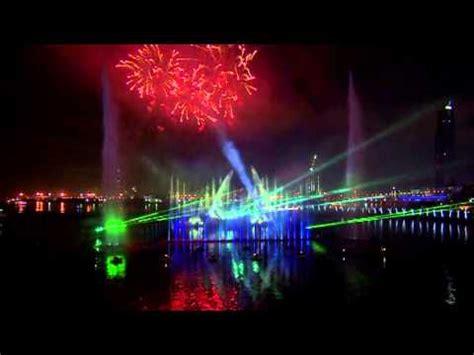 new year 2012 water dubai festival city mall new years light water