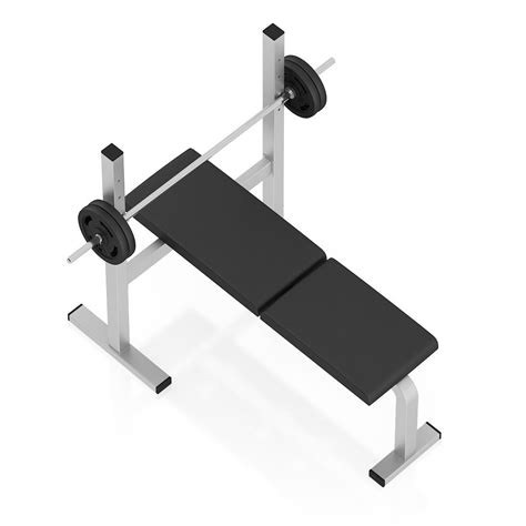 image 3 4 weight bench flat weight bench 3d model max obj fbx c4d cgtrader com