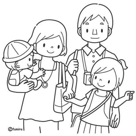 coloring pages of joint family im 225 genes del d 237 a de la familia para pintar colorear e