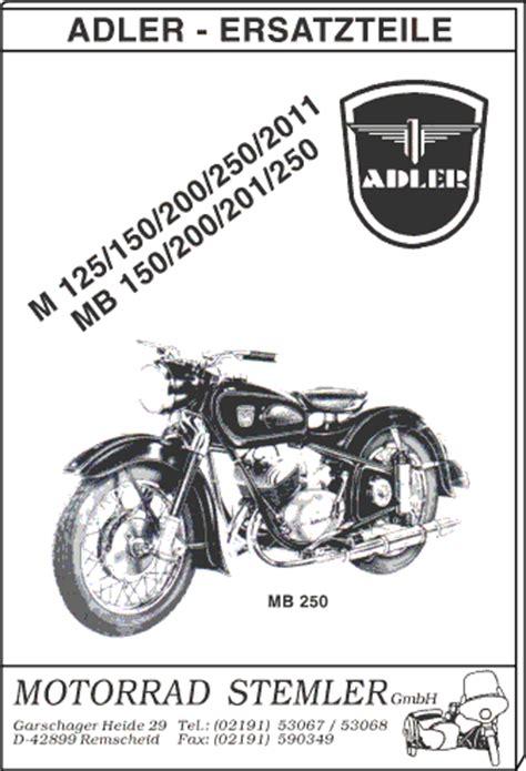 Suche Adler Motorrad by Motorrad Stemler Gmbh Ersatzteile F 252 R Deutsche Motorrad