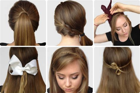 easy and quick hairstyles for school for short hair step by step photos of elegant bow hairstyles hairzstyle