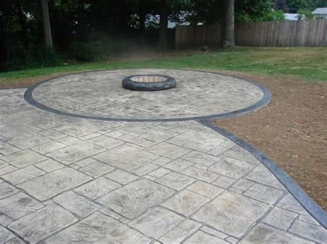 grey patterned concrete sted concrete gray black sted concrete patio with