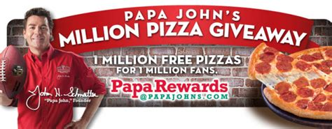Papa Johns Giveaway - papa john s million pizza giveaway win one of 60 000 free pizzas embracing beauty