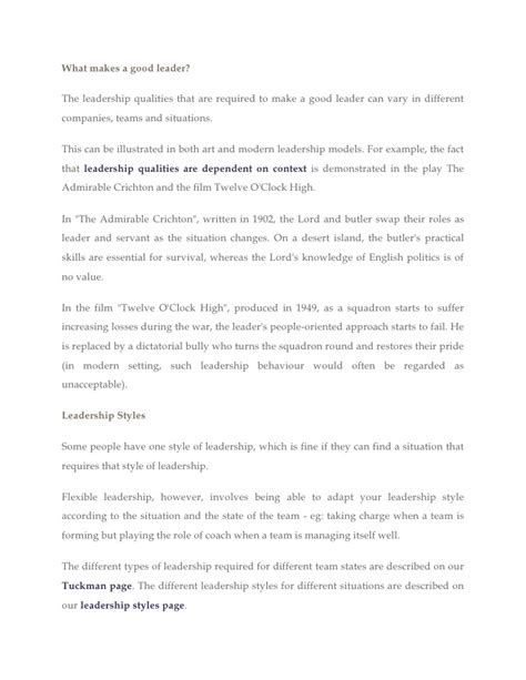 Effective Leadership Essay by College Essays College Application Essays What Makes A Leader Essay