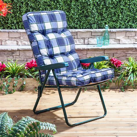 alfresia luxury garden recliner chair cushion ebay