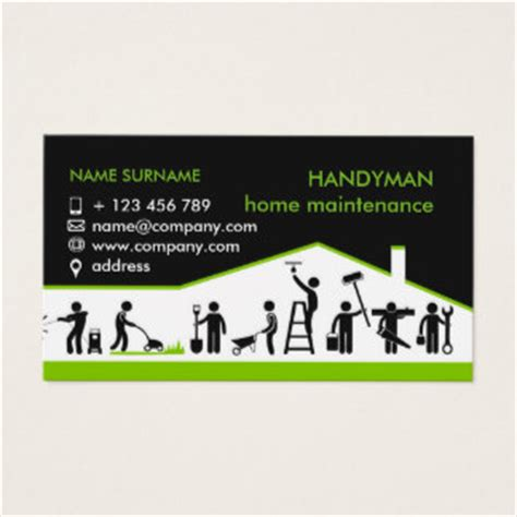 handyman business card template business cards business card printing zazzle au