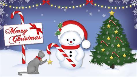 merry christmas cute video ecard youtube