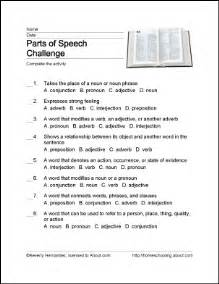 parts of speech wordsearch crossword puzzle and more