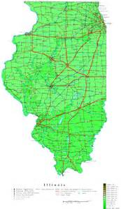 Map Of Illinois With Cities by Illinois Contour Map