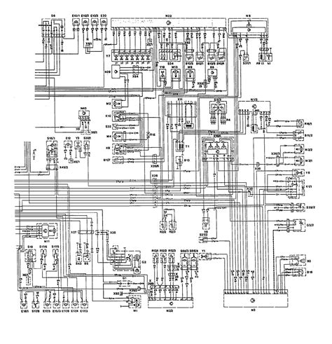 security system 1993 mercedes benz 500e interior lighting mercedes benz 300e 1992 1993 wiring diagrams hvac controls carknowledge