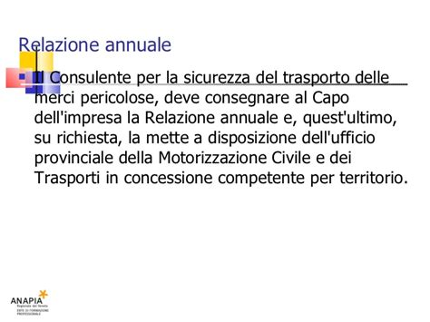 ufficio provinciale motorizzazione civile e trasporti in concessione corso resp 19 lezione adr rif pericolosi
