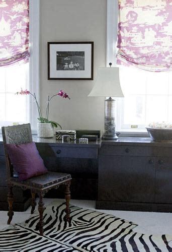 purple toile eclectic denlibraryoffice elizabeth martin design