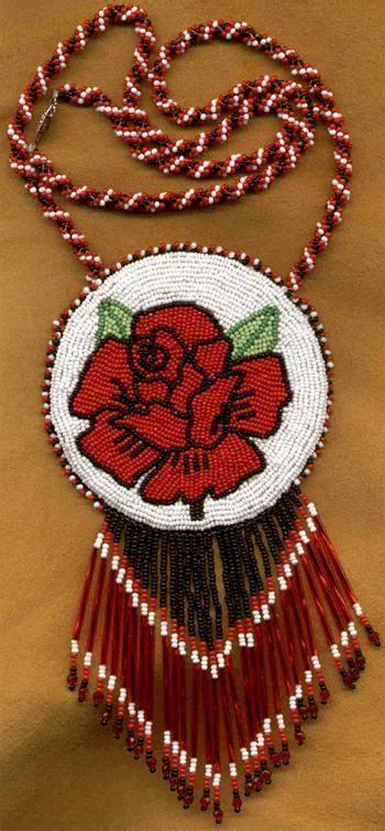 beadwork rose medallion beadwork beadwork