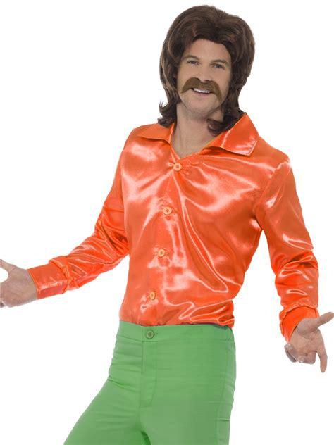 60 age men dress mens orange 60 s shirt 44909 fancy dress ball