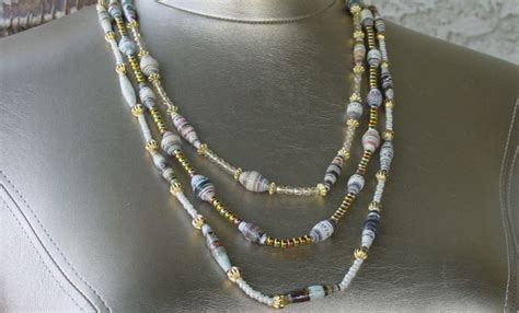 How To Make A Paper Bead Necklace - paper bead jewelry tips paperbeads org paper