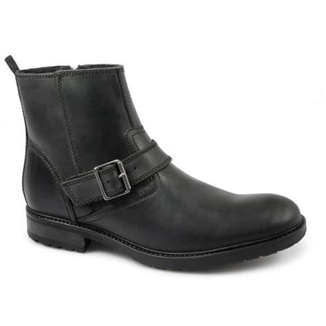 mens tan biker boots ikon chuck mens leather buckle strap zip ankle biker
