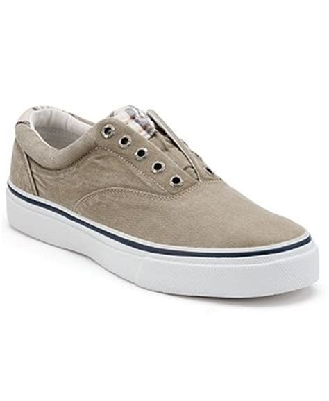 s laceless sneakers sperry s striper laceless sneakers shoes macy s