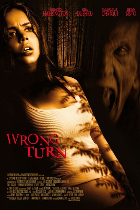 film horror wrong turn wrong turn 2003 movie poster icons of fright horror