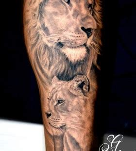 animal tattoo that represents family family of lions animal tattoo tattoomagz