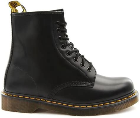 sepatu dr martens low leather 01 dr martens low rise black leather boots with yellow
