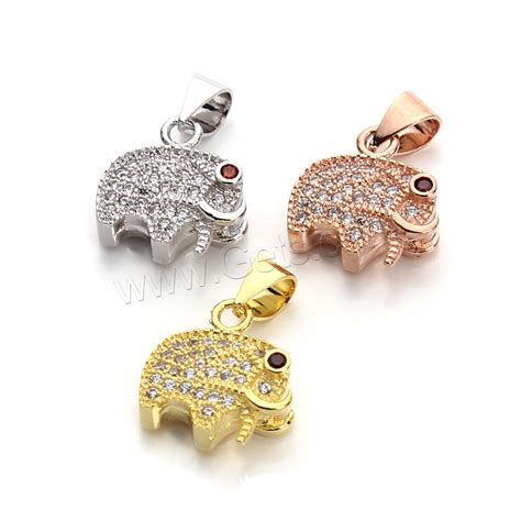 Bag Islam For Everyone 1 Tx 2pcs cubic zirconia micro pave brass pendant elephant plated micro pave cubic zirconia gets