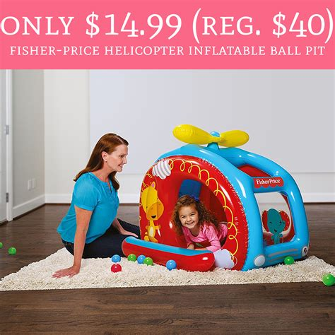 Promo Helicopter Ballpit only 14 99 regular 40 fisher price helicopter pit free shipping deal