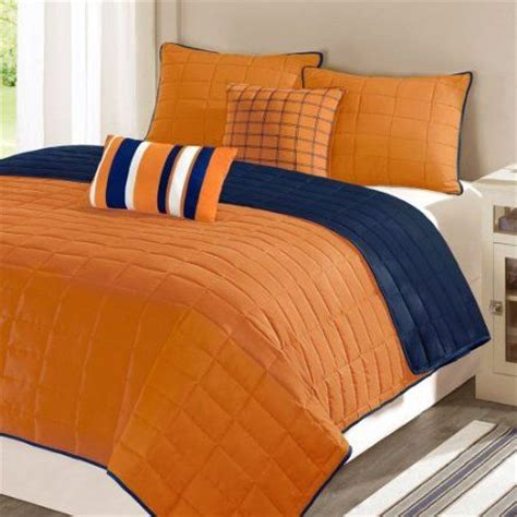 navy and orange bedding walmart or amazon com main street lucas solid micro fiber
