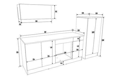 dimensione cucine meuble cuisine dimension galerie et taille standard meuble