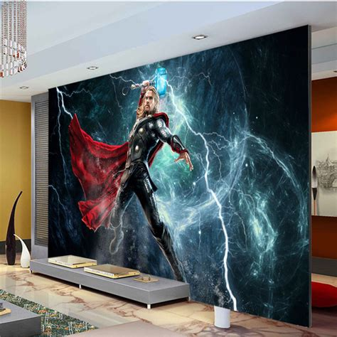 Film Wall Murals Photo Wallpapers Wallpaperink | aliexpress com buy the avengers wall mural thor photo