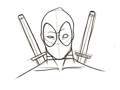 Sketches To Trace by How To Draw Deadpool 187 Vripmaster