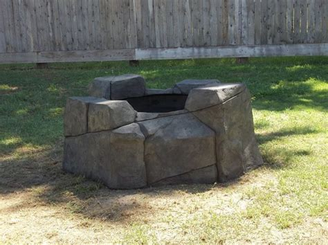 hand carved concrete fire pit fire pits ideas