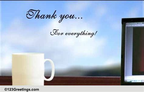 A Thoughtful Boss's Day Thank You  Free Thank You eCards