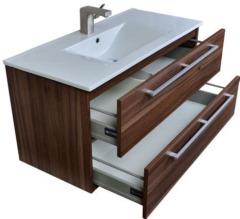 Mounted Vanity by Buy Caen 40 Inch Wall Mount Modern Bathroom Vanity Set In