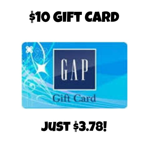 Gap Online Gift Card - 10 gap gift card just 3 78