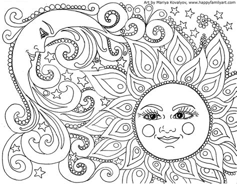 coloring page adults moon coloring pages for adults images