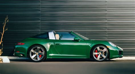 porsche brewster green eye candy irish green porsche 991 targa