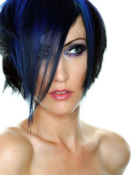 hair color hair styles on pinterest 154 pins trendy short asymmetrical haircut vivid haircolor