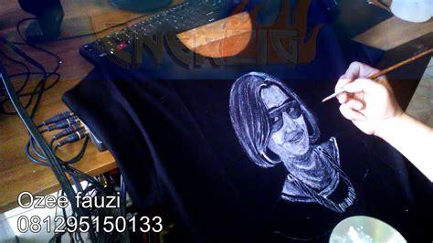 Kaos Tshirt Why Not Hitam teknik cara melukis t shirt kaos hitam sang wanita