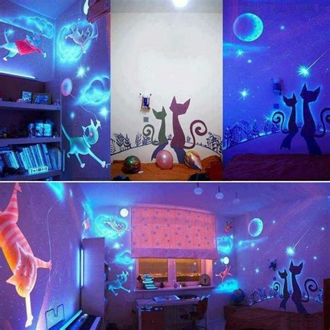 glow in the dark wall murals glow in the dark wall decor home likes n ideas pinterest