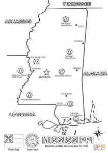 Mississippi Map coloring page | Free Printable Coloring Pages